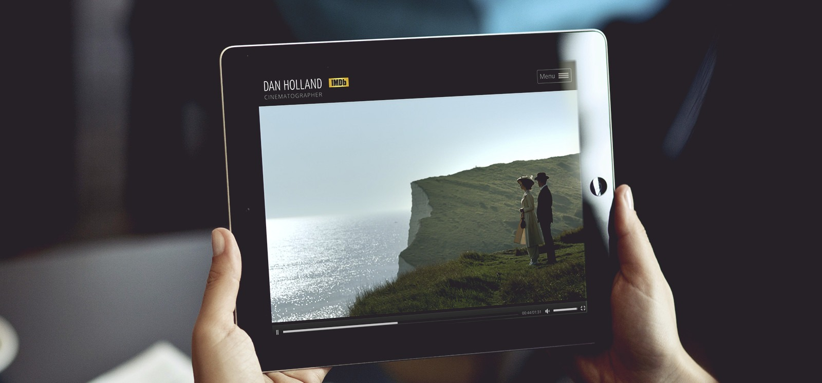 website - film playing on an iPad