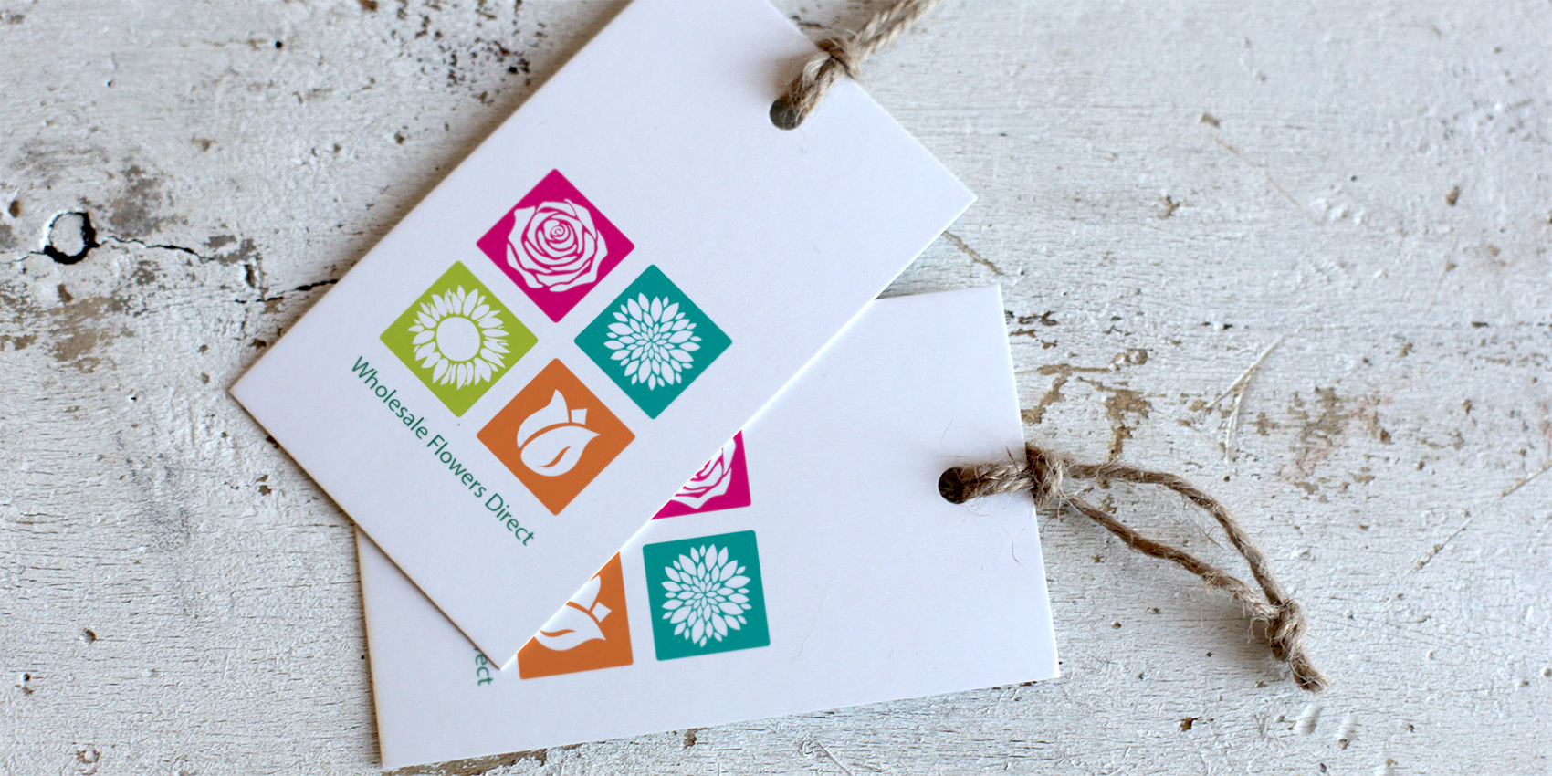Whole Sale Flowers Direct branded tags